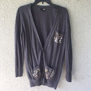 a.n.a. Gray Oversized Cardigan